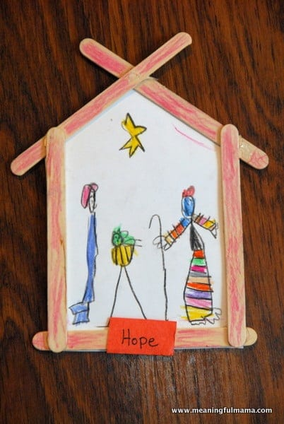 Hope and a Nativity Craft – Character Development, Week #53
