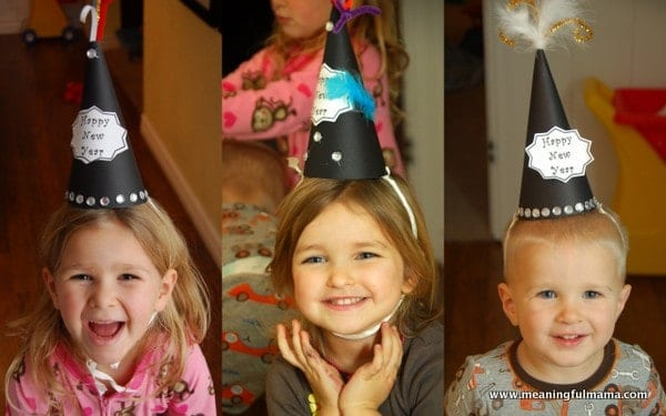 1-new years hats diy homemade with printable