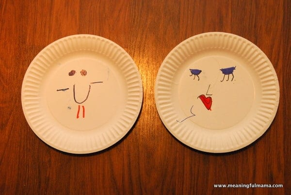 Teaching Kids to be Pleasant with Paper Plate Faces