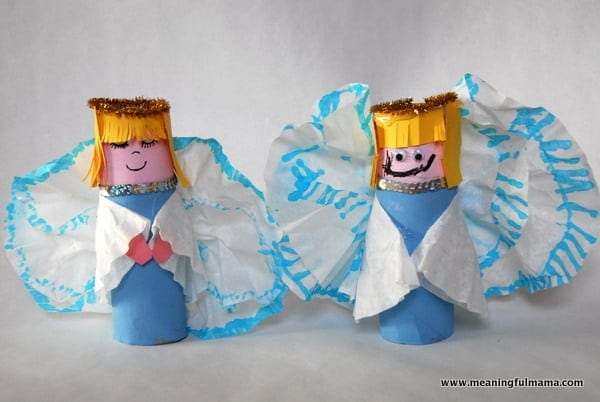 Paper Towel Roll Christmas Angels