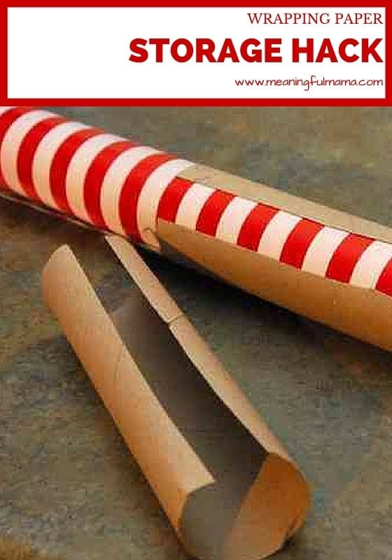 How to Store Wrapping Paper - Life Hack
