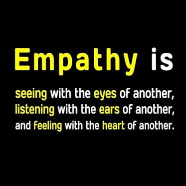 compassion and empathy In contrast to empathy, compassion does not mean sharing the suffering of the other: rather, it is characterized by feelings of warmth,.