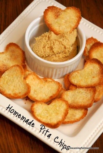 Homemade Pita Chips Recipe & a Healthy Valentine Snack