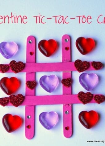 Valentine Heart Tic-Tac-Toe Craft