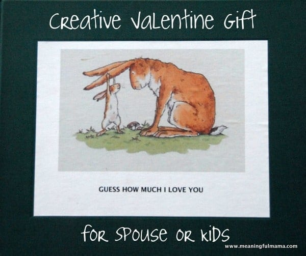 """Creative Valentine Gift for Spouse or Kids – """"Guess How Much I Love You"""""""