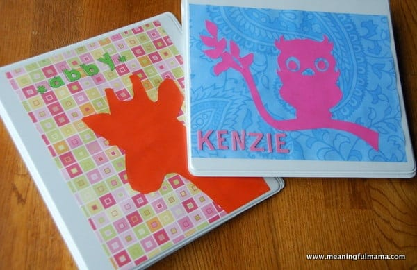 Storing Kids Art and Silhouette Paper Art