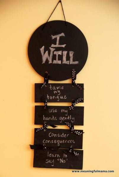 """""""I Will"""" Statements for Self Control – Character Development"""