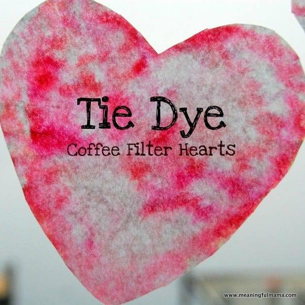 Tie Dye Coffee Filter Hearts