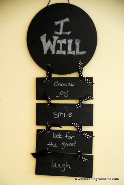 "Joy ""I Will"" Statements – Character Development"