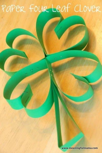 Four Leaf Clover Paper Art For St Patricks Day