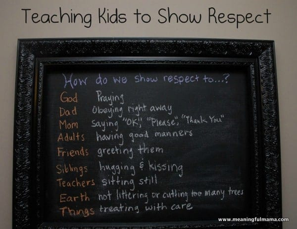 why should we show respect
