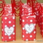 Valentine's Day Juice Boxes with Printable