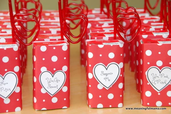 valentine's day juice boxes with printable, Ideas
