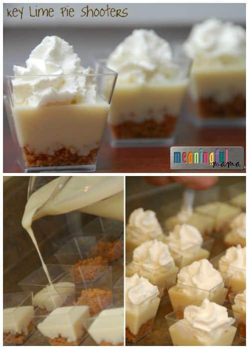 Key Lime Pie Shooters - Alcohol Free Mini Dessert
