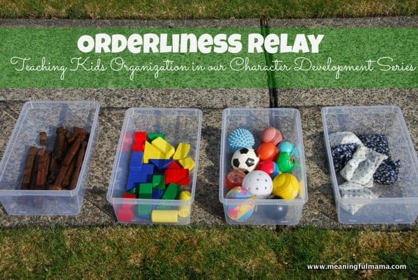 Character Building Object Lesson with relay buckets