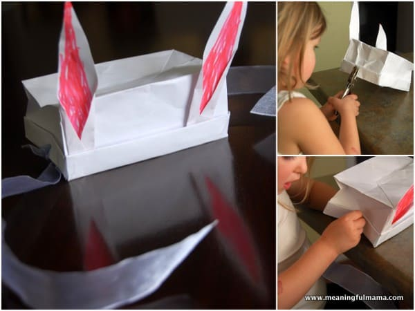 Bunny Ears out of a Paper Bag - Fun Easter Craft