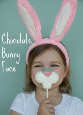 Chocolate Bunny Face with Candy Melts