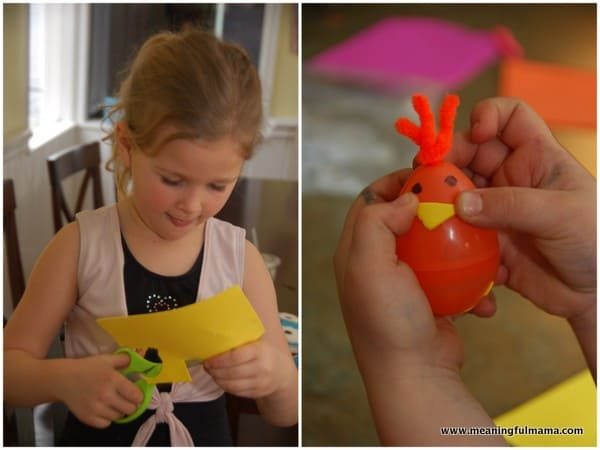 1-easter craft bunny and chicks