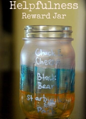 Helpfulness Jar Used as Teaching and Motivation for Children
