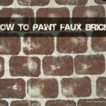 How to Paint Faux Bricks
