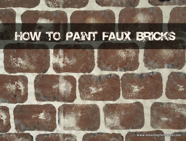 How To Paint A Faux Stone Wall Free Detail Description