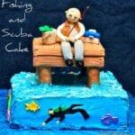 Fishing and Scuba Man Cake