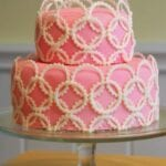 Pink Geometric Baby Shower Cake