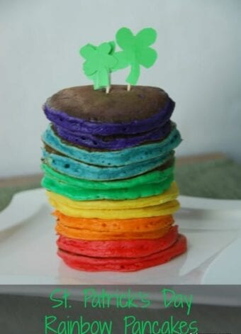 Rainbow Pancakes for St. Patrick's Day