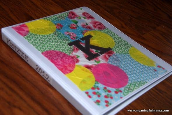 Binder Art with Cupcake liners