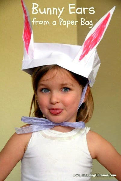 Paper Bag Bunny Ears Craft