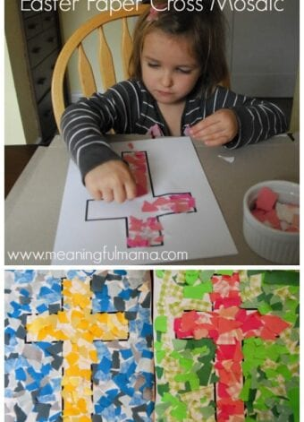 Mosaic Cross Craft for Easter