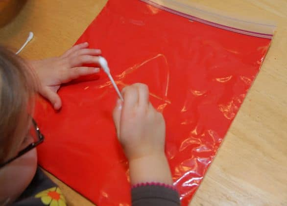 Tactile Writing with Ziploc