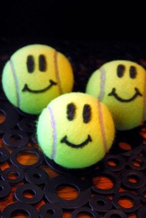 Tennis Ball Smiley Face Kindess