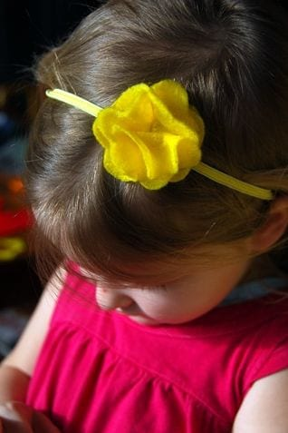 Yellow Felt Headband 1