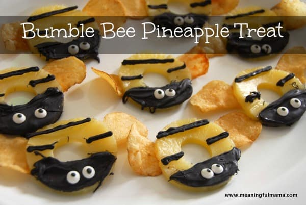 Bumble Bee Pineapple Treats Spring Birthday Party