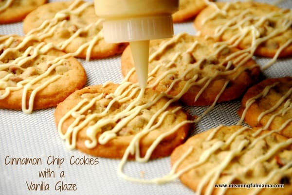 Cinnamon Chip Cookies with a Vanilla Glaze