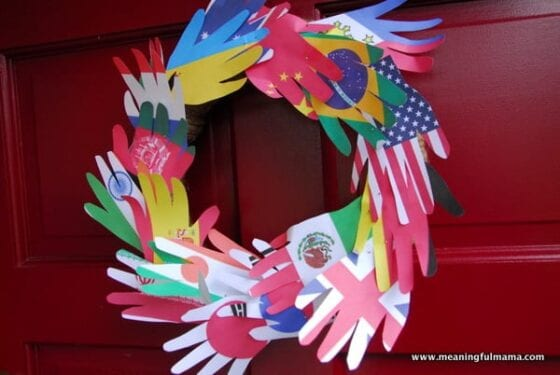 peace hand wreath for character lesson