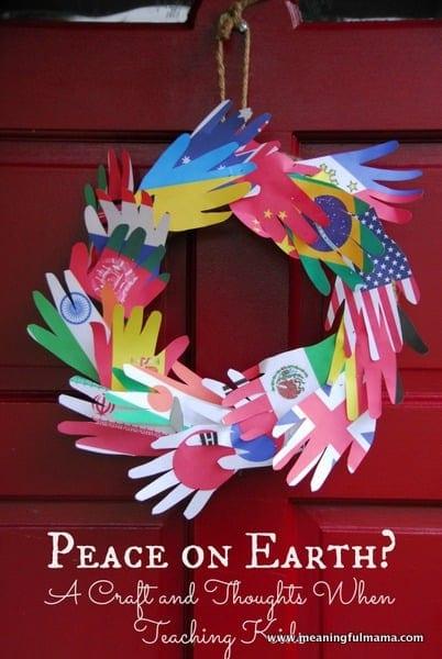 1-#peace #teaching kids #flags #hands