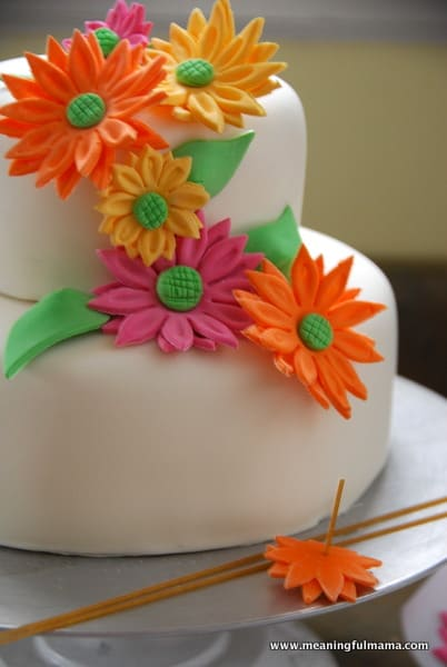 spring flower birthday cake, Beautiful flower