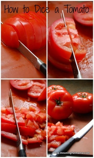 1-#tomato #dice #how to