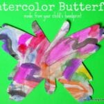 Watercolor Butterfly from Handprints