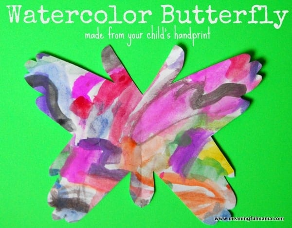1-#watercolor #butterfly #handprint