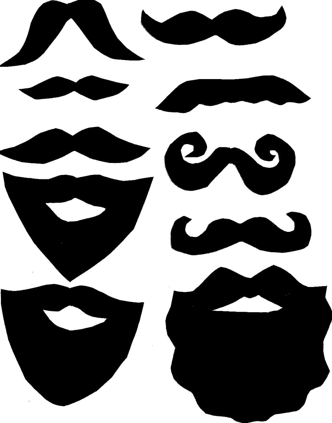 graphic about Printable Mustaches called Do it yourself Picture Booth Moustache and Beard Props with Printable