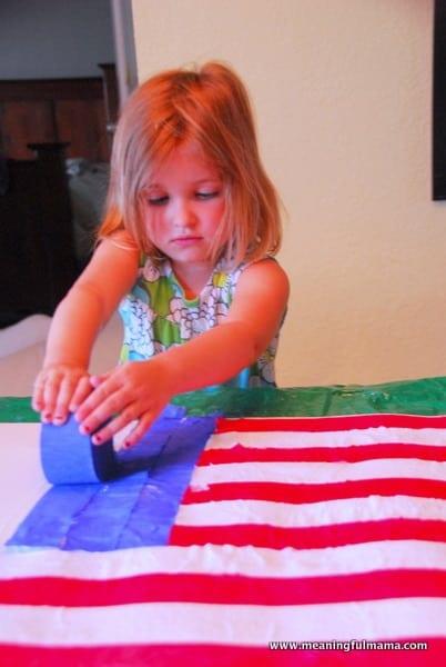 1-#american flag #craft-023