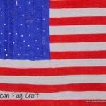 Fourth of July Crepe Paper Flag Craft