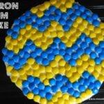 Chevron M&M Cake