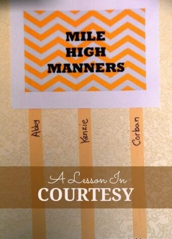Mile High Manners – Teaching Kids to be Courteous