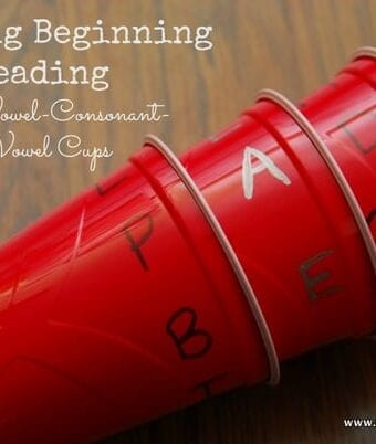 Teaching Beginning Reading with C-V-C Cups