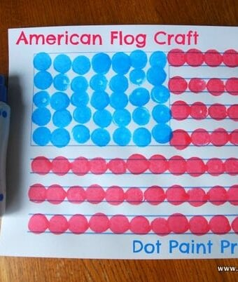 American Flag Craft with Dot Paints