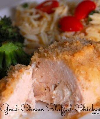 Rosemary Goat Cheese Stuffed Chicken